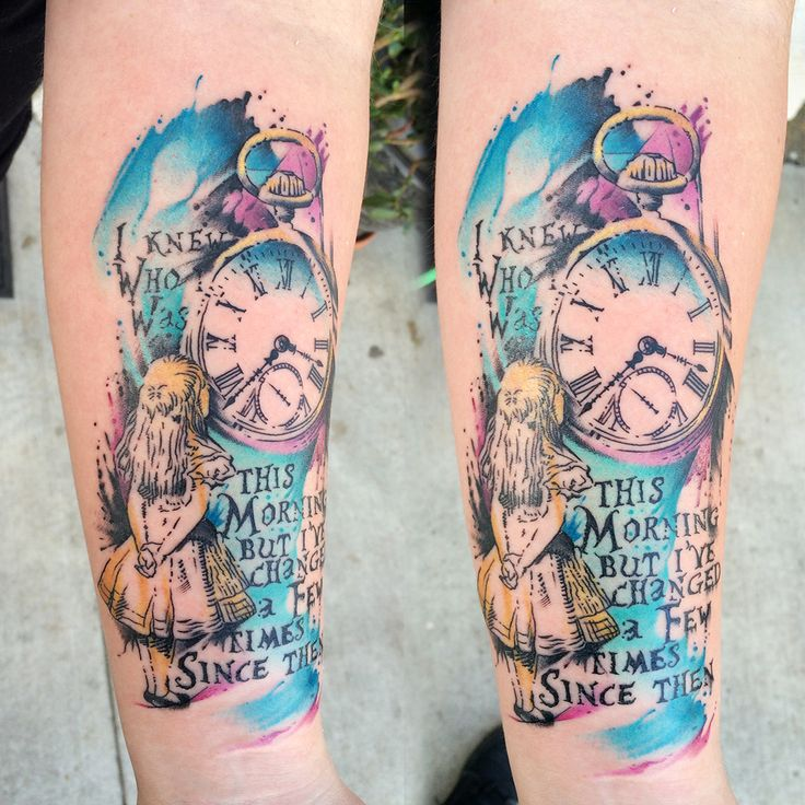 Alice in Wonderland by Carter at Ihearttattoo in Columbus, OH.