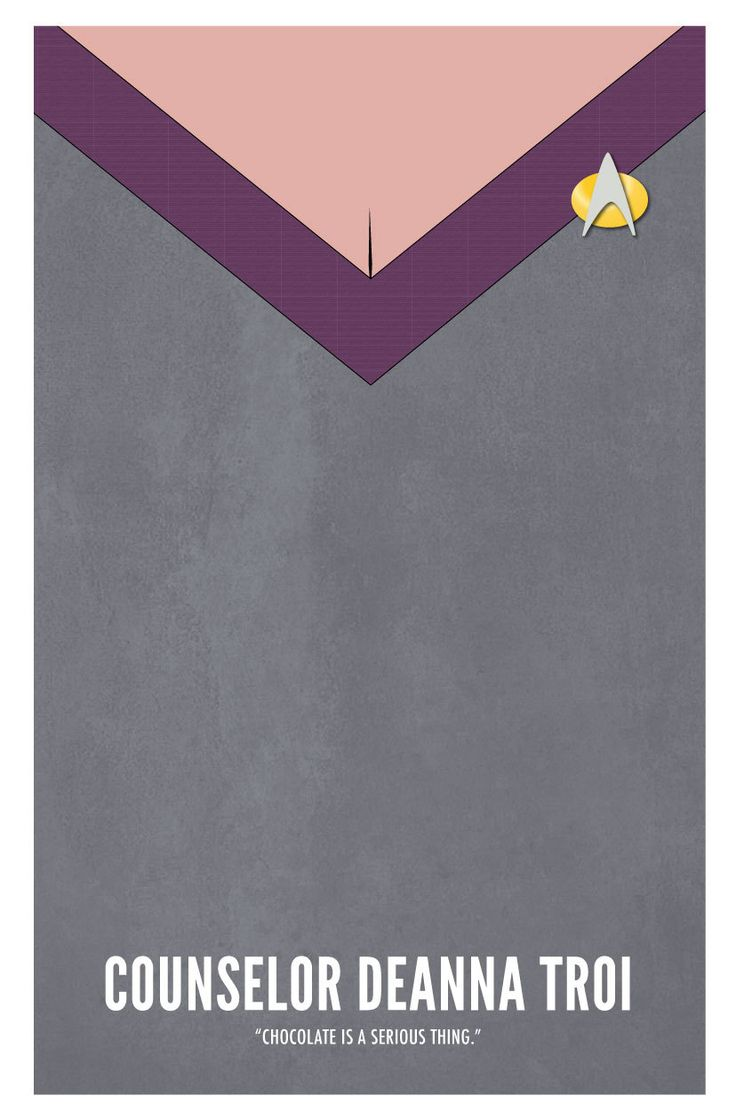 Star Trek TNG Deanna Troi Poster par BlueBoxesEtc sur Etsy
