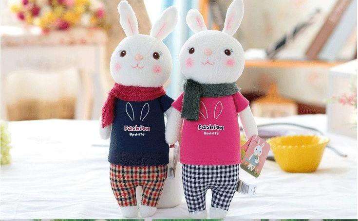 Metoo тирамису кролик плюшевые игрушки куклы дети подарки 8 стиль Кролик, 37 см Кролик Фаршированный Кролик игрушки для детей дети подарки на день рождения купить на AliExpress