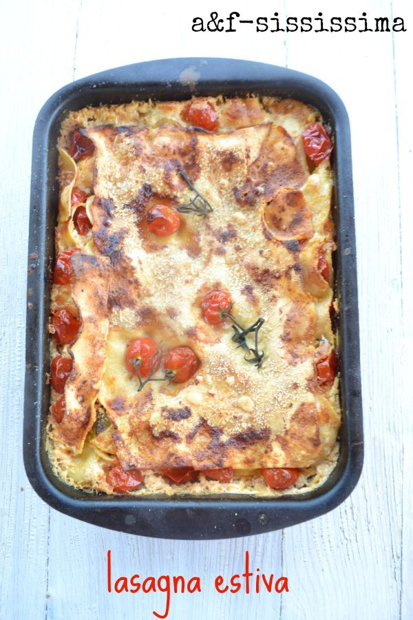 acqua e farina-sississima: lasagna estiva