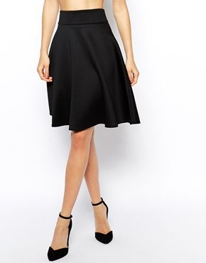 Knee Length Black Skirt