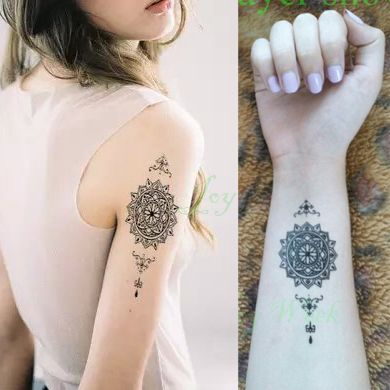 Waterproof Temporary Tattoo mandala Classical totem tattoo for girl man  Water Transfer fake tattoo flash tattoo