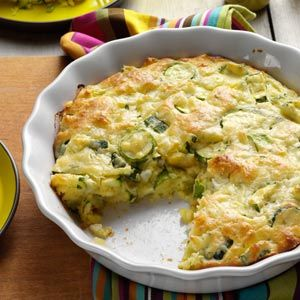 Zucchini Onion Pie - a delicious use of all that zucchini from your summer garden!