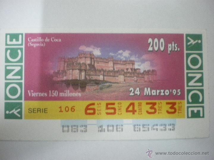 Castillo de Coca - Segovia - Cupón ONCE - 24/03/1995 - Foto 1