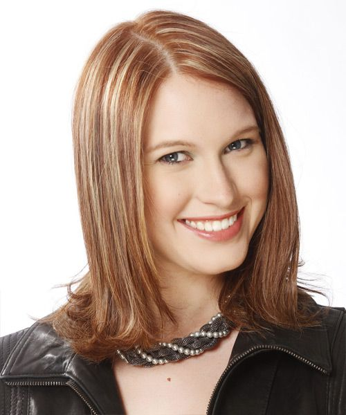 Medium Hairstyle - Straight Formal - Medium Brunette | TheHairStyler.com