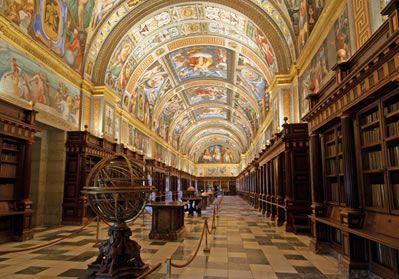 Real biblioteca del Monasterio de San Lorenzo del Escorial, Madrid ,Spain.