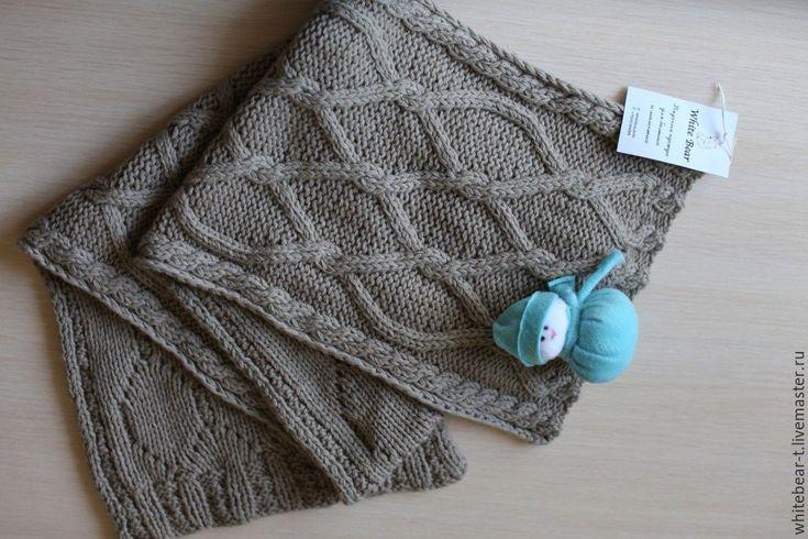 Купить Шарф - серый, шарф, шарф вязаный, шарф женский, шарфик, шарф мужской