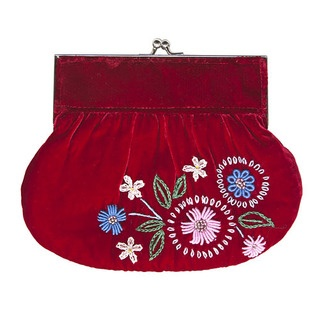 This timelessly elegant velvet vintage purse will ensure that you will be the belle of any ball this summer! In divine velvet to hold all of your treasures.