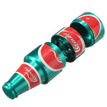 3 Layers Bottle Style Zinc Alloy Tobacco Grinder Herb Crusher Sale - Banggood.com