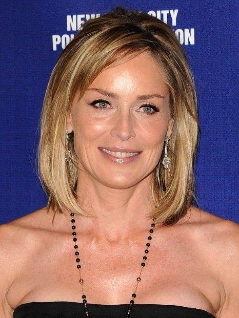 Medium Length Hairstyles For Women Over 50 Sharon Stone
