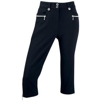 Ping Collection Ladies Edina Cropped Golf Trousers (P93231) Black | Clickgolf.co.uk