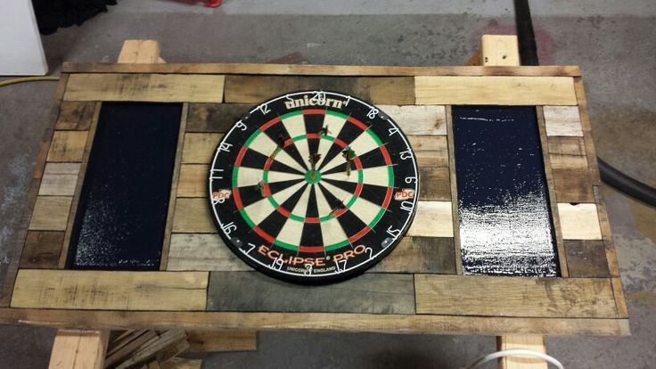 Recycled Pallet Wood For Dartboard Backer Dart Board