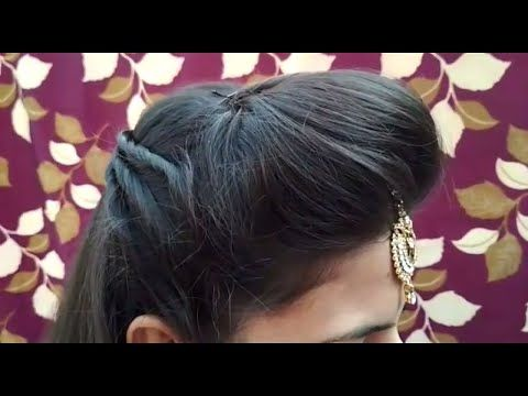Front Puff With Fix Tikka Hairstyle    Occasion Hairstyle - YouTube