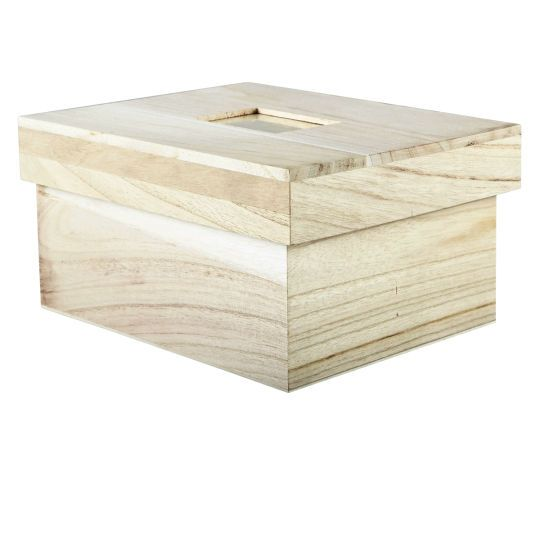 Artminds wood photo box with lid crafts wood photo and for Craft boxes with lids