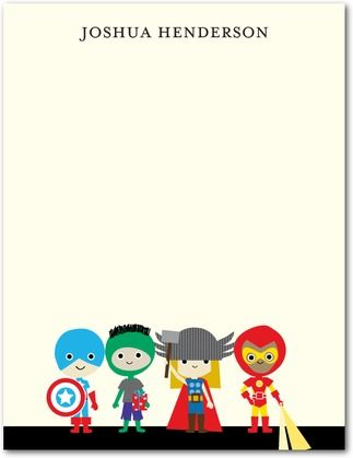 Super Cute Heroes - Thank You Cards - Ann Kelle for Tiny Prints in a Vanilla Neutral design. #stationery