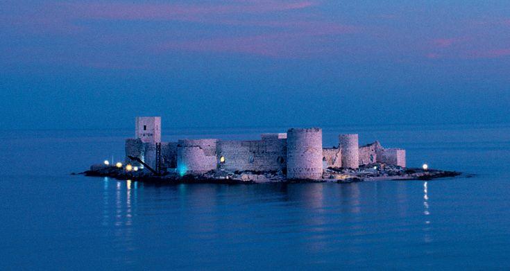 The Maiden's Castle across from the town of Kizkalesi, Turkey