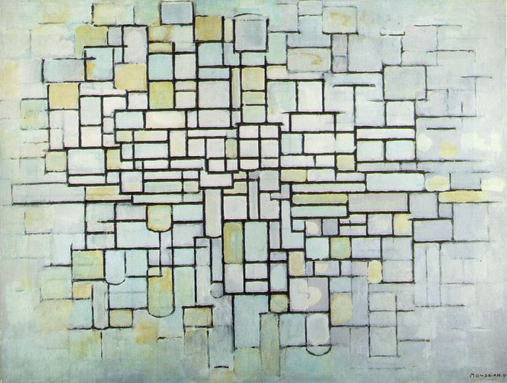 Mondrian. How thin can you make the lines before they become wonky.
