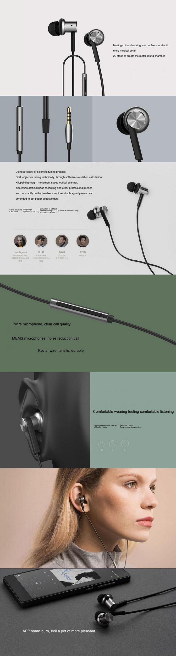 Xiaomi Hybrid Earphone 2 Units In-Ear HiFi Earphone Piston Headphone