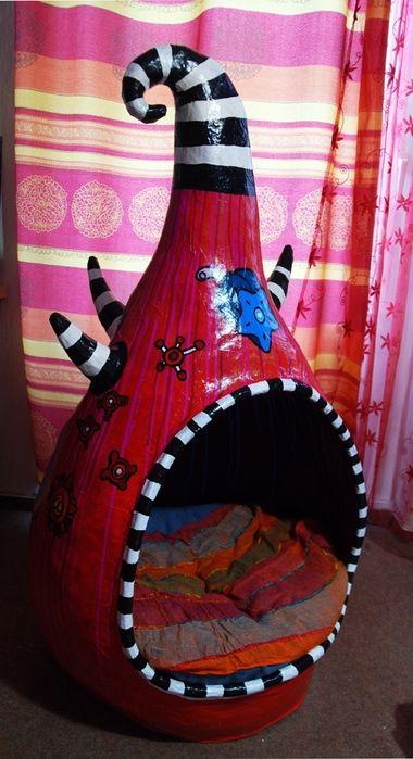 Кошачий домик из папье-маше от Светланы Турсуновой