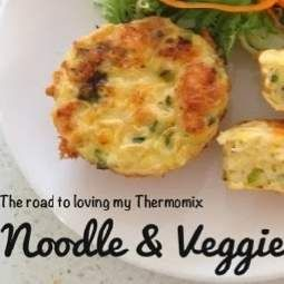 Recipe Noodle and Vegetable Frittata by theroadtolovingmythermomix - Recipe of category Pasta & rice dishes