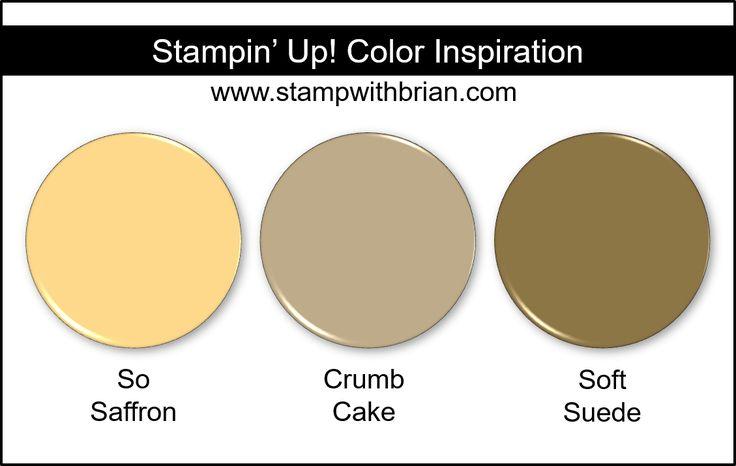 Stampin' Up! Color Inspiration – So Saffron, Crumb Cake, Soft Suede