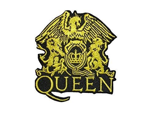 2 pieces QUEEN Iron On Patch Fabric Applique Motif Rock Band Punk Metal 3 x 2.6 #RockBandsMusicGroups