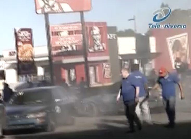Imágenes Impactantes. Así Reprimieron Los Policías La Manifestación De Los Choferes De Santiago