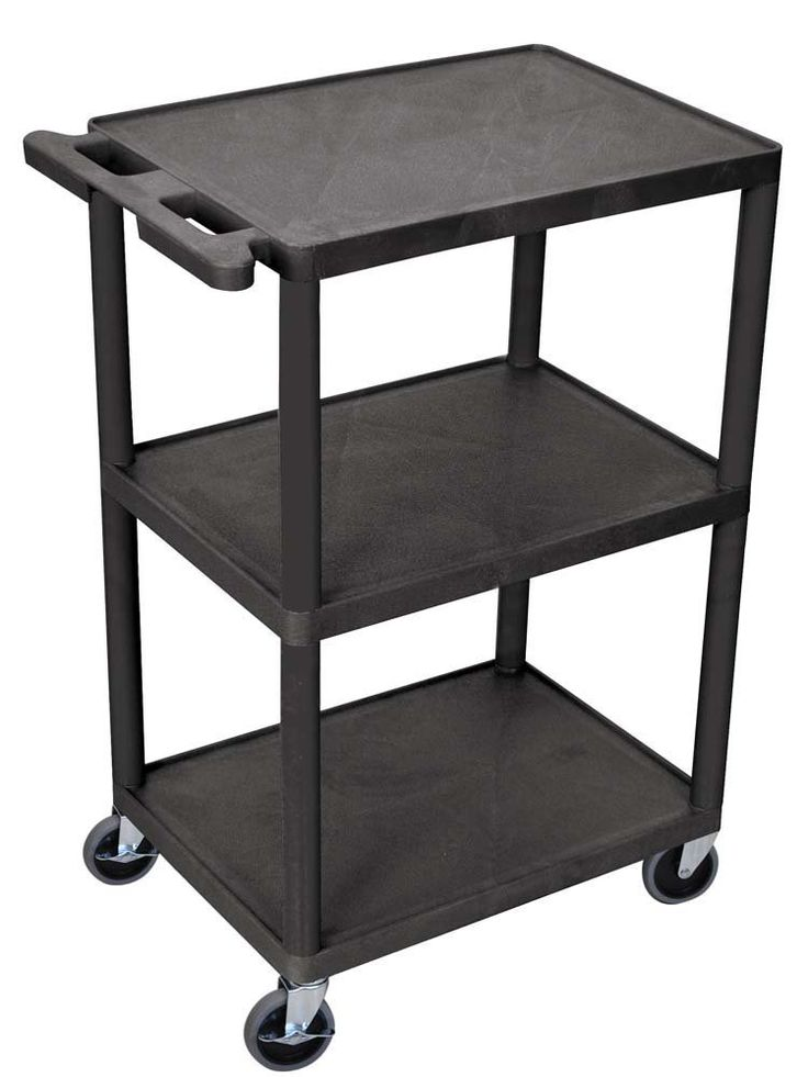 three shelf utility cart is the perfect addition to your office school or workplace the cart is great for storing and - Rolling Utility Cart