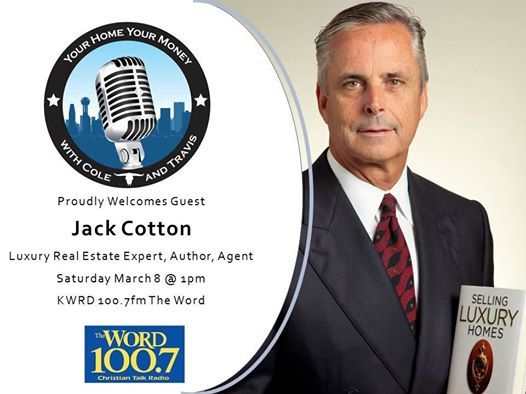 Looking forward to making an appearance on The Real Estate Radio Show with Cole Holmes on March 8 @ 1pm
