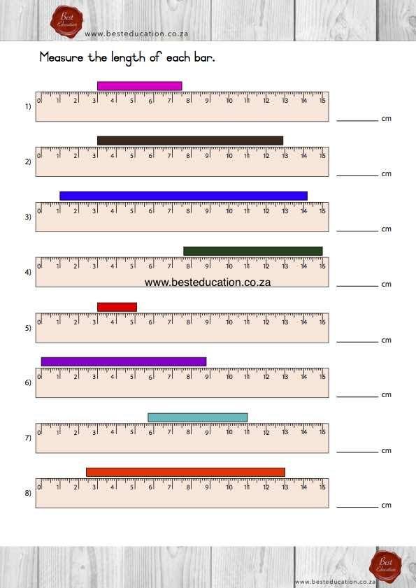 Measure each bar - Grade 5 Maths www.besteducation.co.za