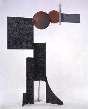David Smith (American, 1906–1965). Zig V, 1961. Steel and automotive paint. Museum purchase, Gift of Mrs. Paul L. Wattis