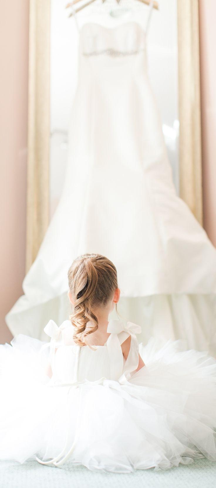 Beautiful...wedding photography little girl ponytail white dress flower girl