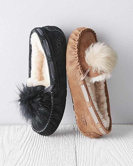 efb75e10d23 UGG® Dakota Pom-Pom Moccasin Slippers | SHOES! in 2019 | Moccasins ...