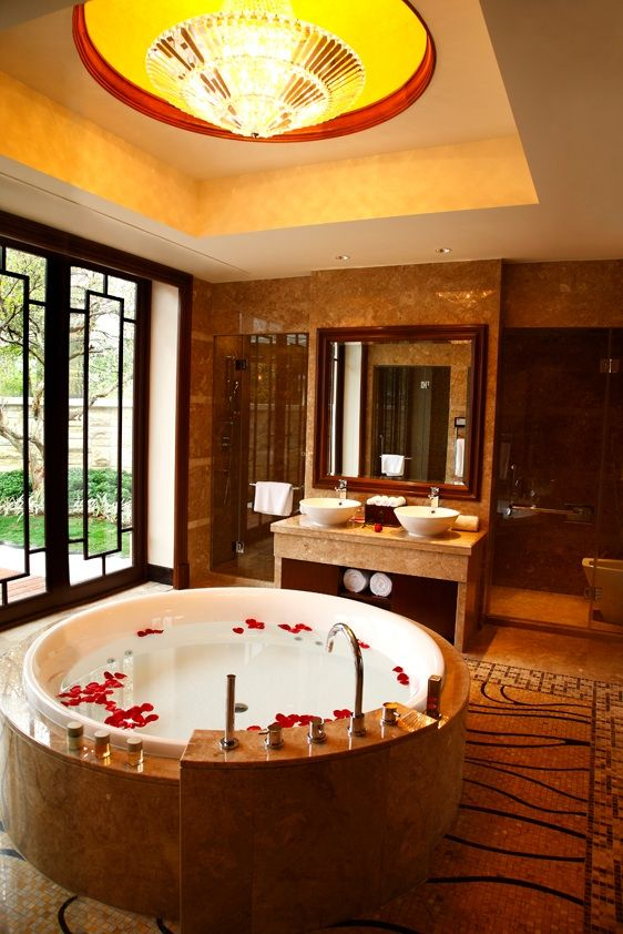Relax in your own private spa bath #honeymoon #china #romance