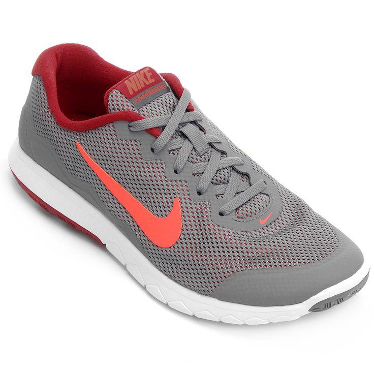 Tênis Nike Flex Experience RN 4 Cinza e Vermelho | Netshoes
