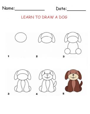 Learn how to draw a dog with our free and fun activity sheets. Your kiddos are sure to LOVE these. Give a like for learning! :)
