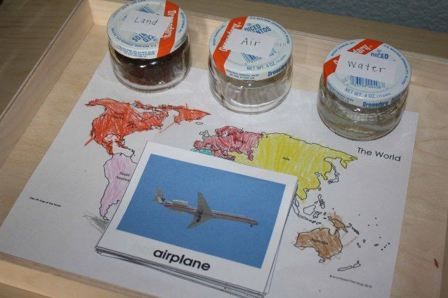 This resource provides a medium for teaching transportation and land, air, water forms. Students can physically differentiate between land and water, then transfer this knowledge to places on the globe. Students will also be able to differentiate between the continents and be introduced to means of travel.