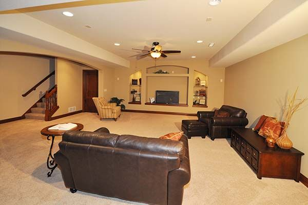 Ashland - Victory Homes of Wisconsin, Inc. Rec room in optional finished lower level
