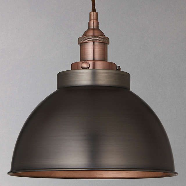 BuyJohn Lewis Baldwin Pendant Ceiling Light, Pewter/Copper Online at johnlewis.com