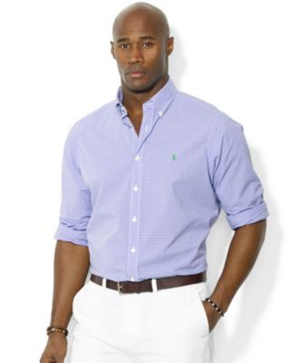 Polo Ralph Lauren Big and Tall Gingham Checked Poplin Shirt