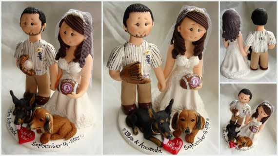 Bride and groom baseball / rugby / sports theme by ALittleRelic