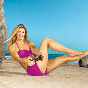 Tone Up Quick With Erin Andrews's Favorite Moves: Workouts: Self.com : For sexier abs, arms and thighs, Fox sportscaster Erin Andrews relies on simple toners using superlight weights, a workout inspired by trendy studio Physique 57. #SELFmagazine
