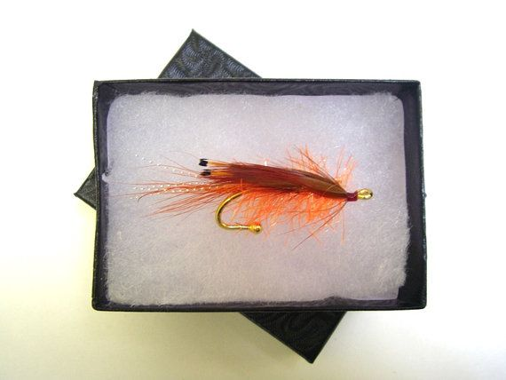 Salmon FlyGP Brooch Hat pin Lapel pin by Ayuflytyer on Etsy