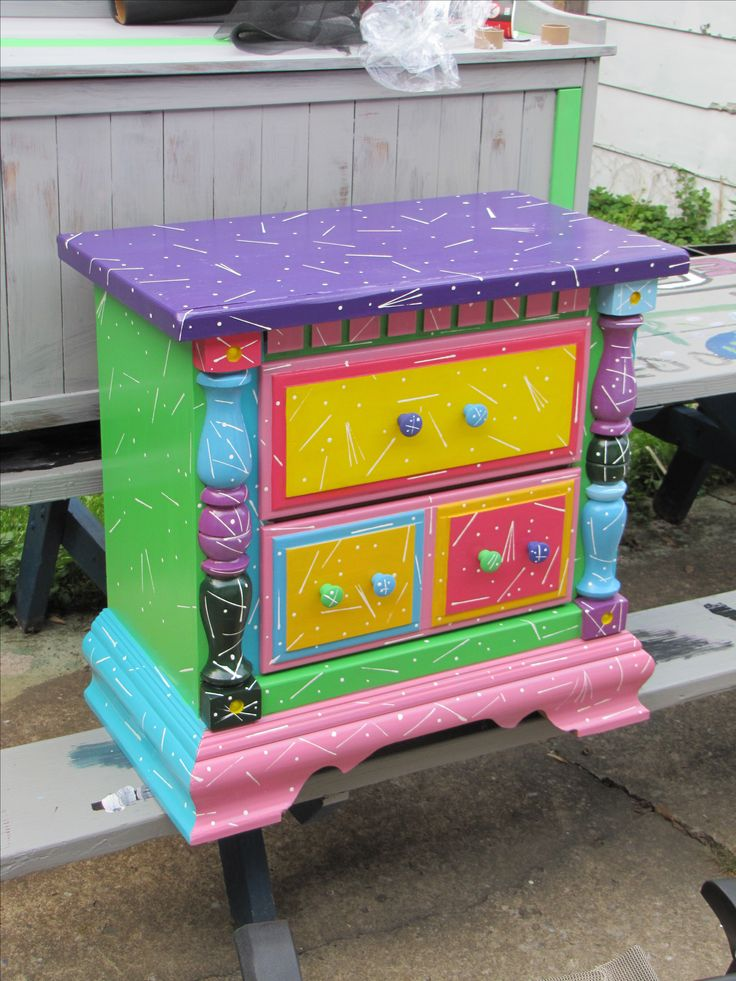 Funky furniture colorful painted furniture pinterest for Funky furniture