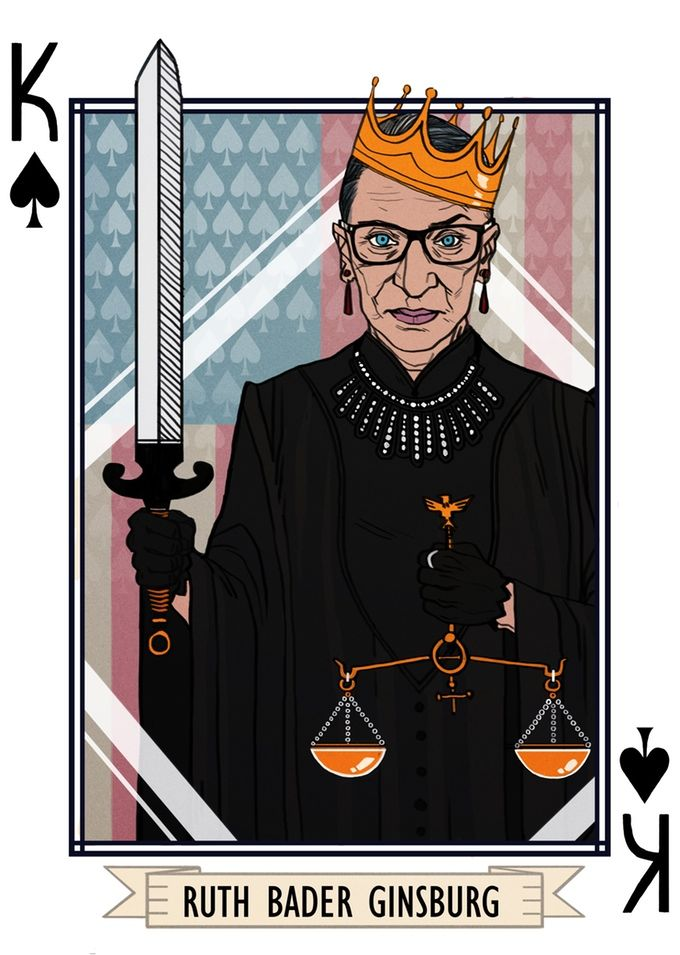 "Ruth Bader Ginsburg - part of a card deck for when you're accused of ""playing the Woman Card"""