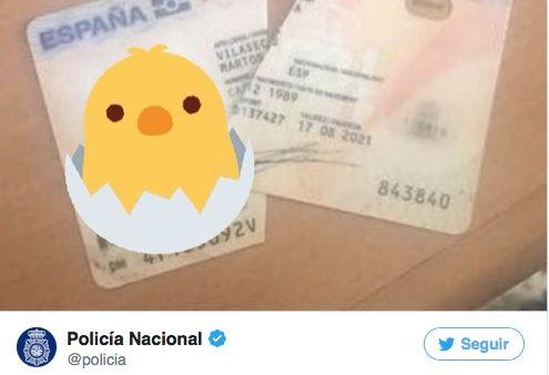 La genial respuesta de la Policía al catalán que rompió su DNI y se jactó en Twitter