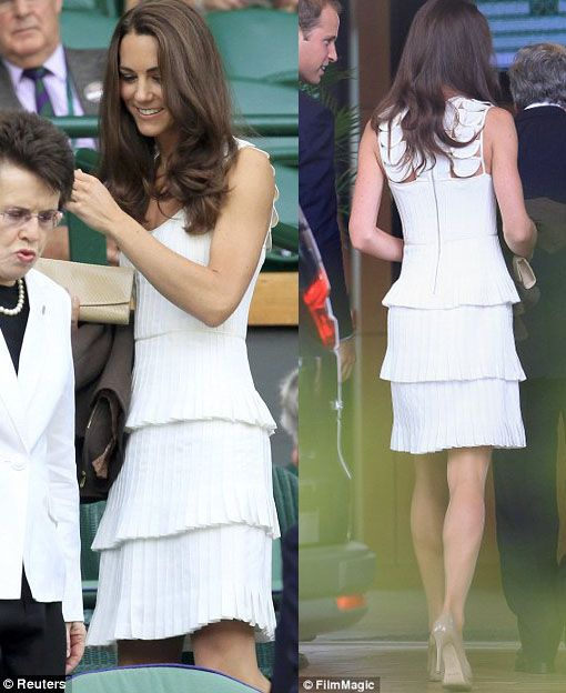 Kate Middleton wearing Alice Temperley at Wimbledon