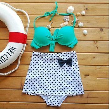 Swimwear women Sexy push up bikini Vintage high waist swimsuit Moda praia Biquini cintura alta Beach wear Fashion bathing suits