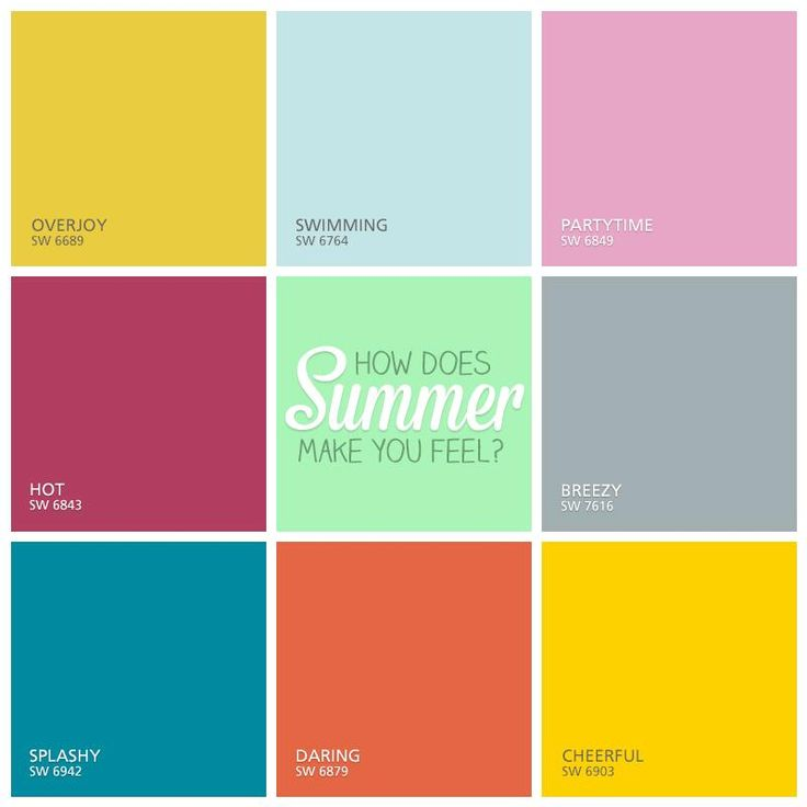 Summer colors.