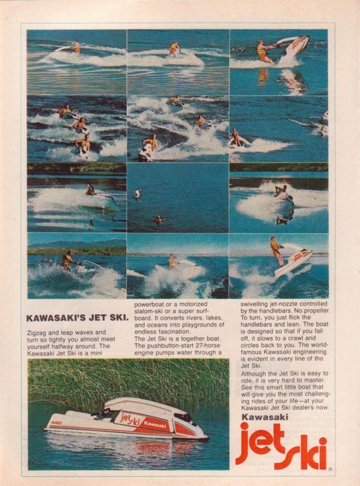 1977 Kawasaki Jet Ski Color Magazine Ad.